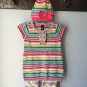 Old Navy Sweater Dress 3pc set 3-6 months